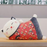 招财猫抱枕办公室护腰靠垫客厅沙发腰枕床上靠枕汽车腰靠床头靠背 55cm左右