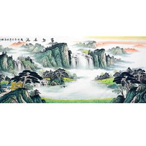 中国美协会员,中国书协会员,龙云书画院院长侯桂峰(富水长流2)20