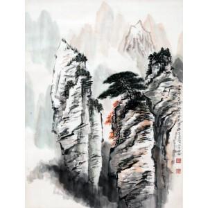 著名国画家   何海霞《山水》