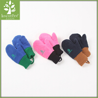 儿童手套冬男孩女孩保暖加绒五指秋冬小孩宝宝手套1-3岁男女童潮