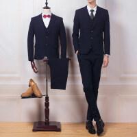 西服套装三件套四季新郎结婚礼服伴郎服韩版修身帅气男士工作正装