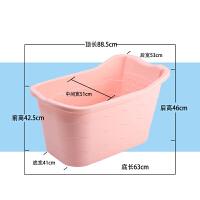 超大号儿童宝宝洗澡桶 婴儿泡澡桶浴盆塑料沐浴桶可坐保温洗澡桶 粉 加大款 长约88 适合0-13岁