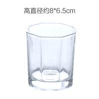 家用透明玻璃杯无盖水杯茶杯玻璃杯子早餐牛奶杯奶茶饮料杯啤酒杯