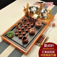 20190308040939107茶具套装全自动四合一整套实木茶盘紫砂功夫陶瓷家用茶台茶道茶海 43件