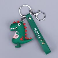 钥匙扣 网红创意小恐龙钥匙扣书包挂件可爱公仔钥匙链女背包挂饰