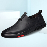 承发 休闲男皮鞋驾车软底舒适耐磨一脚蹬防滑鞋子男 26999