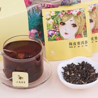 �皮普洱茶云南熟茶三角袋泡�b茶�~��s自��b40克