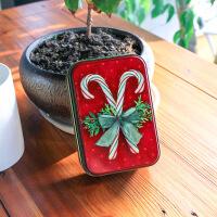 圣诞小长方形糖果礼物礼品盒结婚喜糖包装盒口红礼盒饼干收纳盒子 12.5*8.5*4.5cm