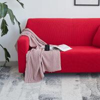 针织纯色沙发套全包套通用型加厚123组合坐垫罩全盖简约现代