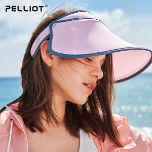 【2019新品】伯希和户外沙滩防晒帽 女士夏季出游太阳遮阳帽防紫外线空顶帽子