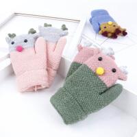 儿童手套秋冬保暖韩版手套宝宝连指针织绒款手套