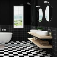 卫生间地砖贴纸 防水耐磨防滑地贴厕所地砖瓷砖地板贴纸翻新自粘墙纸 大