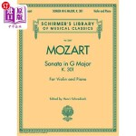 【中商海外直订】Sonata in G Major, K301: Schirmer Library of Classi