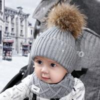 宝宝帽子秋冬季 0-3个月男女儿童春秋毛线帽1-4岁婴儿帽子潮6-12