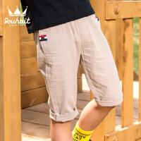 【3件3折:56元】souhait水孩儿童装夏季新款梭织七分裤男童短裤休闲裤AKNXM551