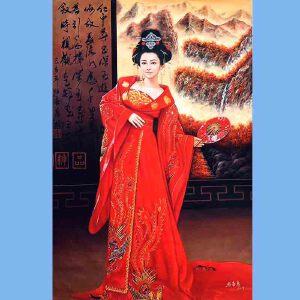 我国当代非常有名的青年油画艺术家张嘉应(江山美人)6
