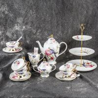 陶瓷咖啡杯欧式陶瓷咖啡套具英式简约下午茶具杯碟
