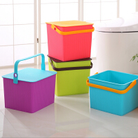 多功能钓鱼桶凳塑料方形收纳凳桶储物桶加厚水桶可坐钓鱼桶