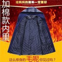 中年女装冬装毛呢格子外套大衣中长款妈妈装加厚女毛呢外套奶奶装 XL 建议90-105