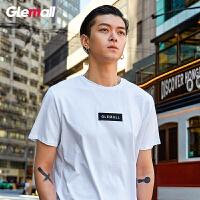 森马旗下潮牌GLEMALL 男短袖t恤新款2019春夏季男装男生圆领体恤多色