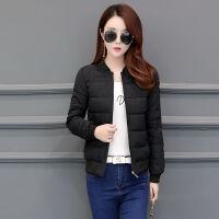 【】女冬季外套短款面包服棒球服夹克小棉衣修身棉袄 M 65-75斤左右