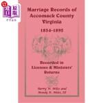 【中商海外直订】Marriage Records of Accomack County, Virginia, 1854