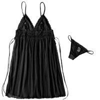 性感睡衣女冬火辣吊带睡裙透明薄纱情趣内衣套装 均码