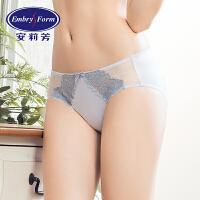 安莉芳女士内裤棉质底裆舒适蕾丝中低腰三角裤E13301
