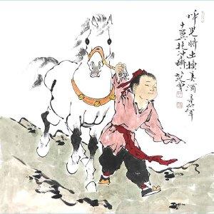 北京大学中国画画法研究院院长,当代书画巨匠文学家诗人范曾(呼儿将出换美酒)
