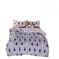 罗缦迪诗清新时尚亲肤超柔活性印染四件套 床单 被罩 枕套