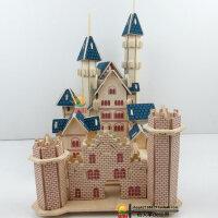 3d立体拼图木质成人拼图 手工拼装智力玩具木制模型别墅梦幻城堡