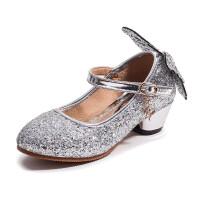 女童高跟鞋小公主舞蹈鞋2018新款春秋儿童皮鞋女童单鞋韩版演出鞋