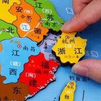 中��地�D拼�D磁性木�|益智玩具男孩3-5-6�q世界�和�智力�_�l早教