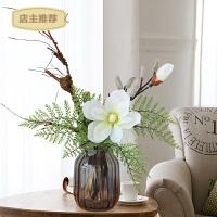 家用玉兰仿真花 摆件套装花瓶插花塑料假花家居客厅卧室装饰花卉摆设SN3518