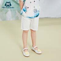 迷你巴拉巴拉女童牛仔裤子2020夏装新款儿童宝宝薄款舒适洋气中裤