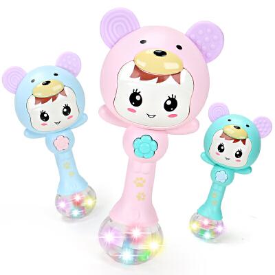 新生的儿宝宝0-1岁初生男女孩手摇铃婴儿玩具牙胶益智3-6-12个月