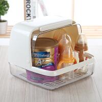 宝宝餐具收纳箱 母婴用品翻盖存放箱奶瓶储存盒奶嘴碗筷水杯收纳盒