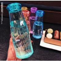 北斗正明抖音晶钻玻璃水杯 星空创意透明礼品 大容量学生便携简约网红杯子560ML