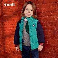 【2件3折价:126.6】专柜同款安奈儿童装男童短款棉衣2020冬新款加厚保暖3岁宝宝外套幼儿棉袄