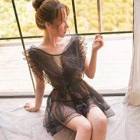 情趣内衣冬季 新品女人诱惑睡衣蕾丝透明公主裙美背激情制服角色扮演套装