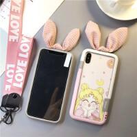 美少女战士iphoneX手机壳苹果8plus钢化膜7P彩膜6s小仙女硅胶边 iPhoneX 开心少女