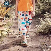 【618年中庆 129元任选3件】迷你巴拉巴拉女童防蚊裤长裤2020夏装新品薄款宽松柔软丝滑亲子装
