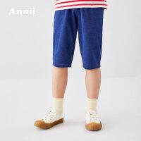 【3件3折价:71.7】安奈儿童装男童夏装2020新款中大童洋气男孩牛仔七分裤薄儿童裤子