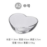 心形玻璃碗沙拉碗日式餐具家用透明水果碗甜品碗