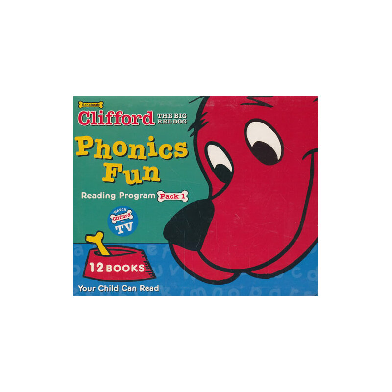 Clifford's Phonics Fun Box Set #1 (w/CD) 大红狗自然拼读法系列套装1(含CD) ISBN9780545648950
