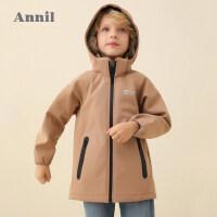 【活动价:298】安奈儿童装男童夹克外套2020春季新款复合摇粒绒冲锋衣保暖外套潮