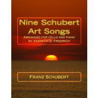 【预订】Nine Schubert Art Songs: Arranged for Cello and Piano b