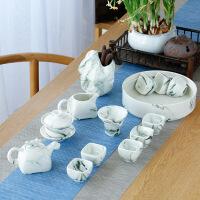 20190306233259639整套功夫茶具手绘盖碗茶杯家用简约办公水墨西施侧把壶套装