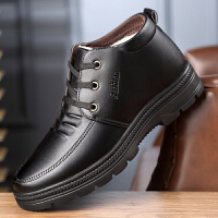宜驰 EGCHI 靴子男士加绒保暖雪地棉靴系带商务休闲线防滑户外耐磨高帮棉鞋子 K3975