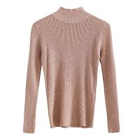 秋冬季半高领毛衣打底衫女韩版修身套头针织衫纯色内搭长袖上衣潮 均码